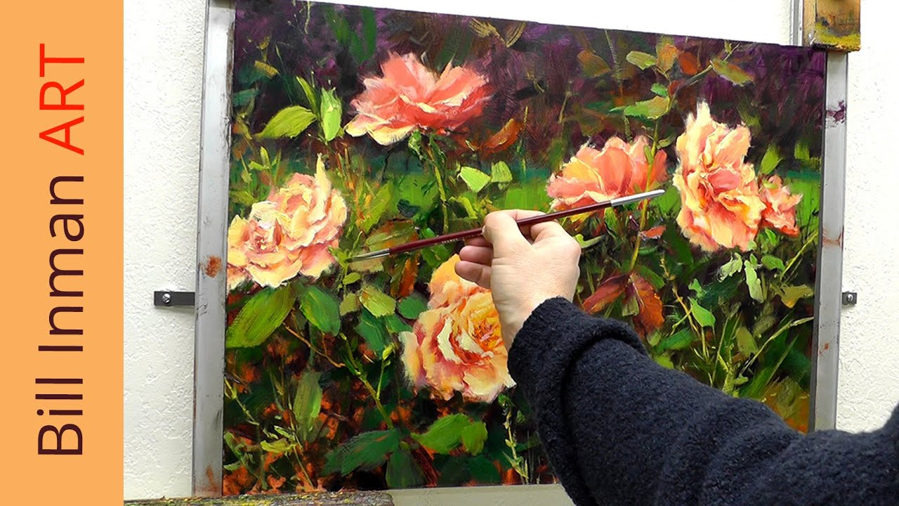 Learn How to Paint Beautiful Roses in Oil Pastel | step by ...