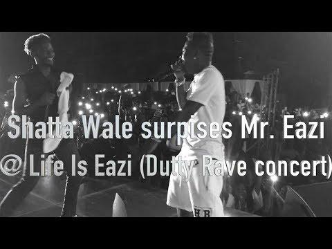 Shatta Wale surprises Mr Eazi @ Life Is Eazi Dutty Rave concert