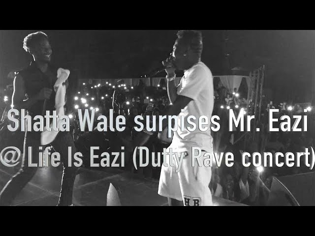 Shatta Wale surprises Mr Eazi @ Life Is Eazi Dutty Rave concert