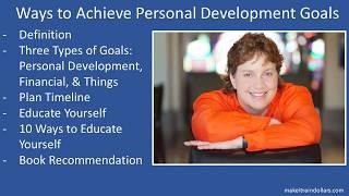 Ways to Achieve Personal Development Goals