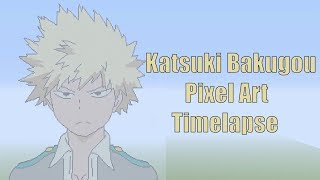 Minecraft Katsuki Bakugo Pixel Art Timelapse (My Hero Academia)