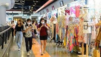 """[4K] 2020 """"Union Mall"""" billige Modekleidung zu Fuß von der MRT Phahon Yothin Station, Bangkok"""