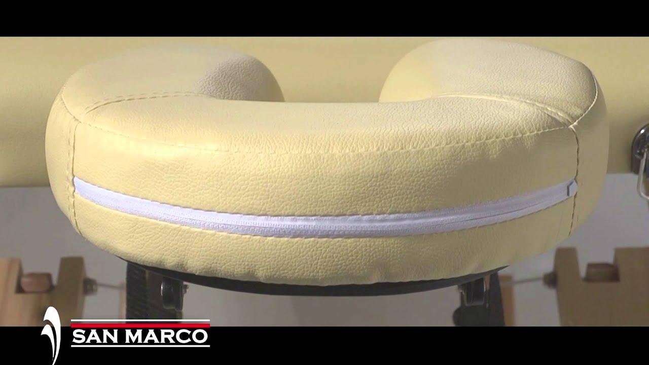 Lettino Massaggio Portatile San Marco.Lettino Massaggio In Legno A 4 Sezioni San Marco Youtube