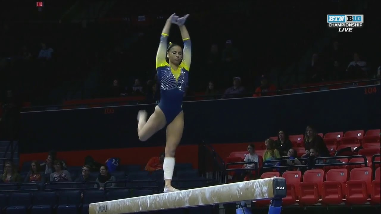 Lauren Marinez (Michigan) 2018 Beam Big Ten Championships 9.9