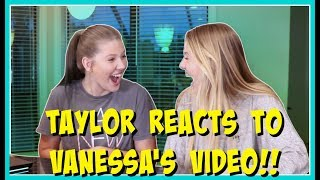 TAYLOR REACTS TO VANESSA SPENDING 24 HOURS IN HER ROOM || Taylor and Vanessa