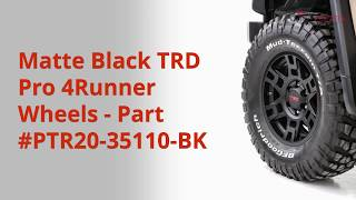 Toyota TRD 17in. Matte Black Alloy Wheels