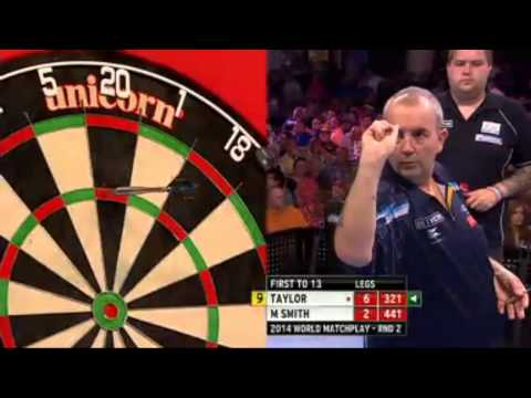 PDC World Matchplay 2014 - Second Round - 9 DARTER ! Phil Taylor  HD