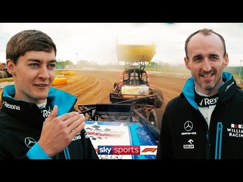George Russell and Robert Kubica go stock car racing!