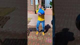 EPIC BALLOON TRICK #2 || FUN BALLOON HACKS #Shorts #123GO #SMOL
