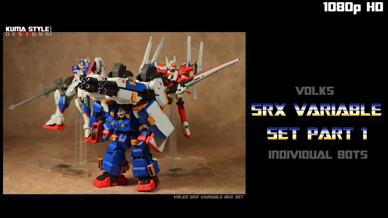 Toy Review: Volks Variable SRX Giftset Part 1 - YouTube