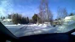 Driving around Pateniemi, Oulu, Finland