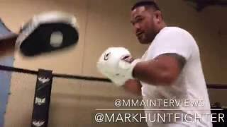 Mark Hunt reunites with Ray Sefo to hit mits in preparation for Brock Lesnar fight at UFC 200