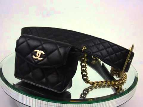 16f0befa71f2 CHANEL Quilted Caviar Leather WAIST BELT BAG Black - YouTube