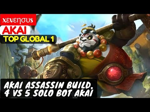 Akai Assassin Build, 4 VS 5 Solo Bot Akai [Top Global 1 Akai] | xεvεησυs Akai Mobile Legends