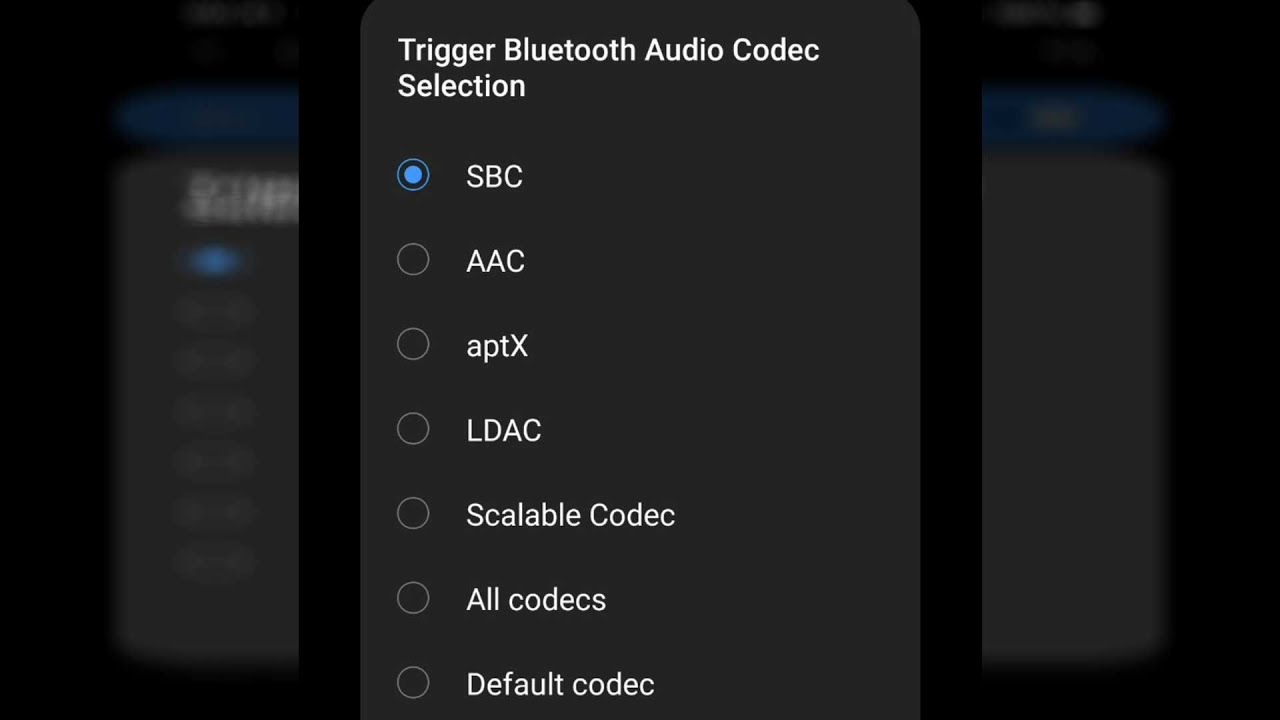 How To Check Activate Aptx Or Other Bluetooth Audio Codec On Android Youtube