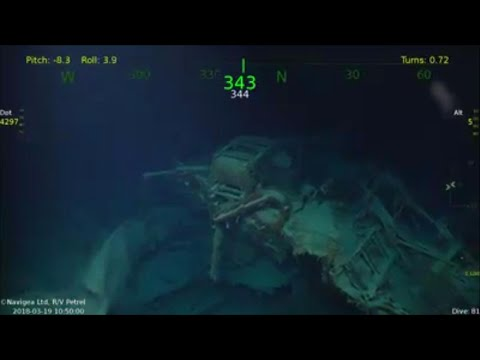 Wreck of WWII Ship USS Juneau Found by Paul Allen's Research Vessel