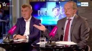 Druhý díl sestřihu televizního Duelu s Andrejem Babišem