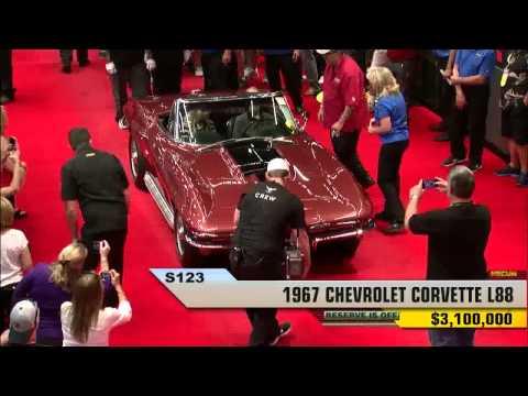 1967 L88 Corvette Convertible Sells For Record $3.2 Million At Mecum Dallas.