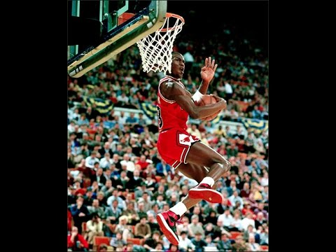 793a457eba8b Michael Jordan Cradle Reverse Dunk 1985 - YouTube