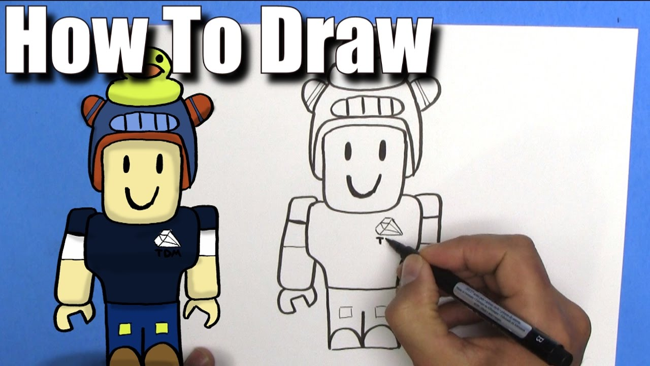 How To Draw Dan Tdm Roblox  Easystep By Step