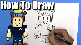 How To Draw Dan TDM Roblox - EASY-Step By Step