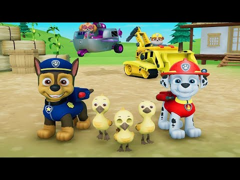 paw-patrol:-on-a-roll!-chase-&-marshall-save-the-ducks.-200-pup-treats-&-5-golden-paw-prints-found!