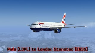 Pula (LDPL) to London Stansted (EGSS)