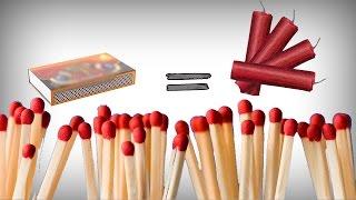 Cum sa faci o petarda care bubuie tare din 5 chibrite! | How to make a firecracker with matches