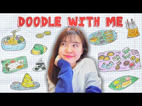 MALAYSIAN FOOD l DOODLE WITH ME :)
