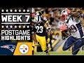 Patriots Vs. Steelers (week 7)   Game Highlights   Nfl video