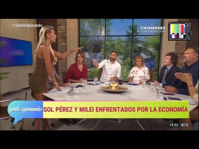 Sol Perez se retira del programa tras cruzarse con Milei- 18/02/19