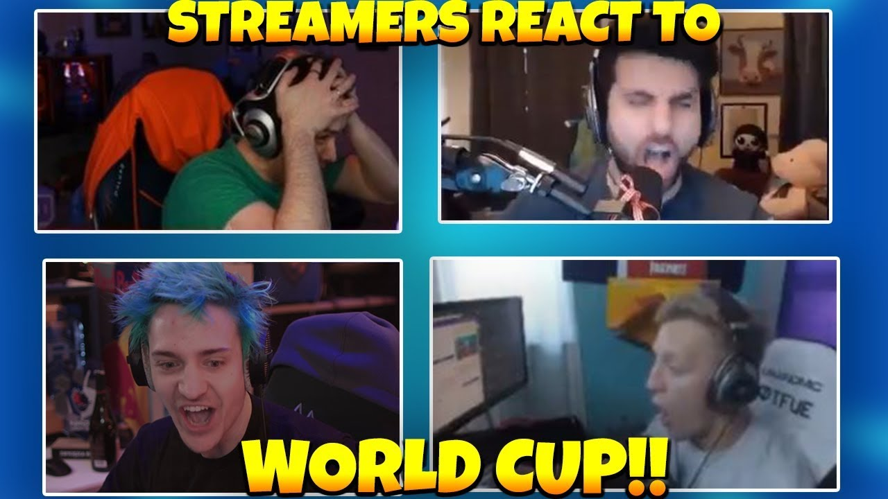 STREAMERS WATCH AND REACT TO WORLD CUP!!