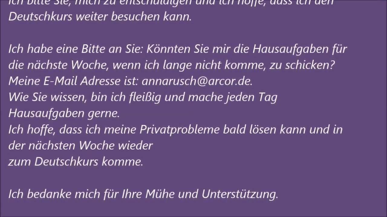 Deutsche Brief A1 A2 B1 Prüfung 42