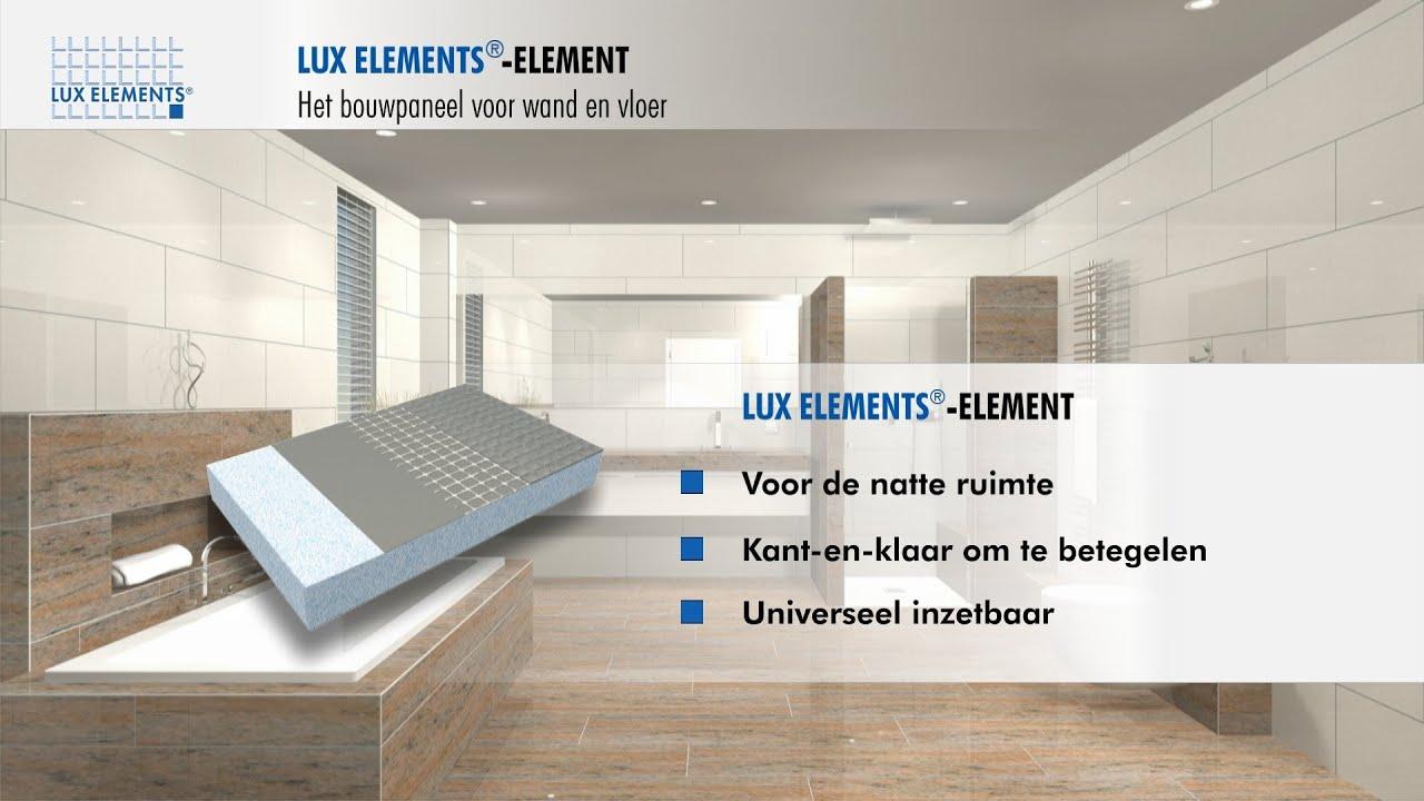 Lux platen badkamer