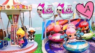 Muñecas bebes LOL Surprise en parque de diversiones de Playmobil - Juguetes con Andre thumbnail