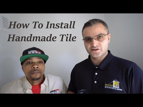 How to install - handmade Crackle Glazed Tile - Certified Installers (part one/prep day)