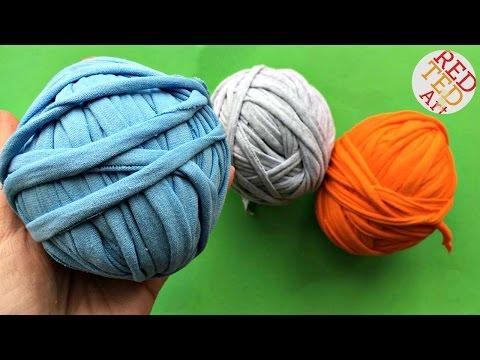 How to make T-Shirt Yarn (Easy Upcycle) - Great T-Shirt Yarn DIYs