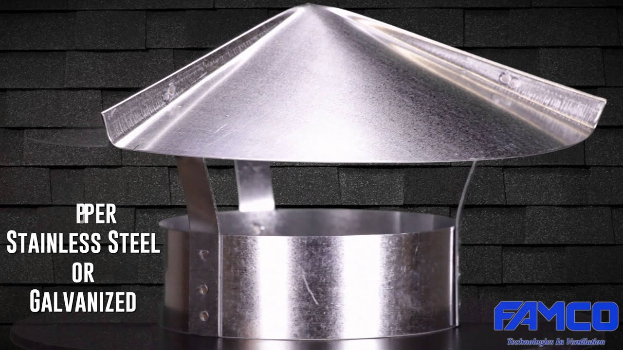 Cone Top Cap Hvac Chimney Cap By Famco Manufacturing