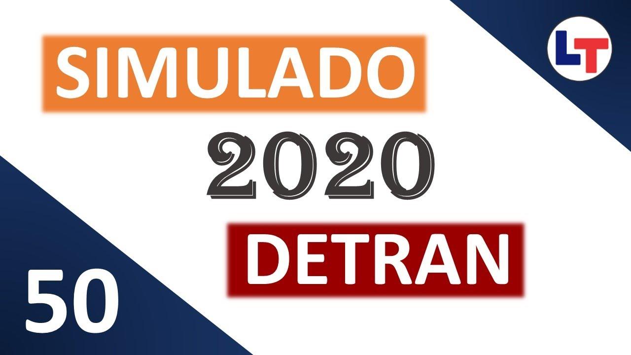 SIMULADO DETRAN QUESTÕES 2020 - AULA 50 #SimuladoLegTransito #Detran2020