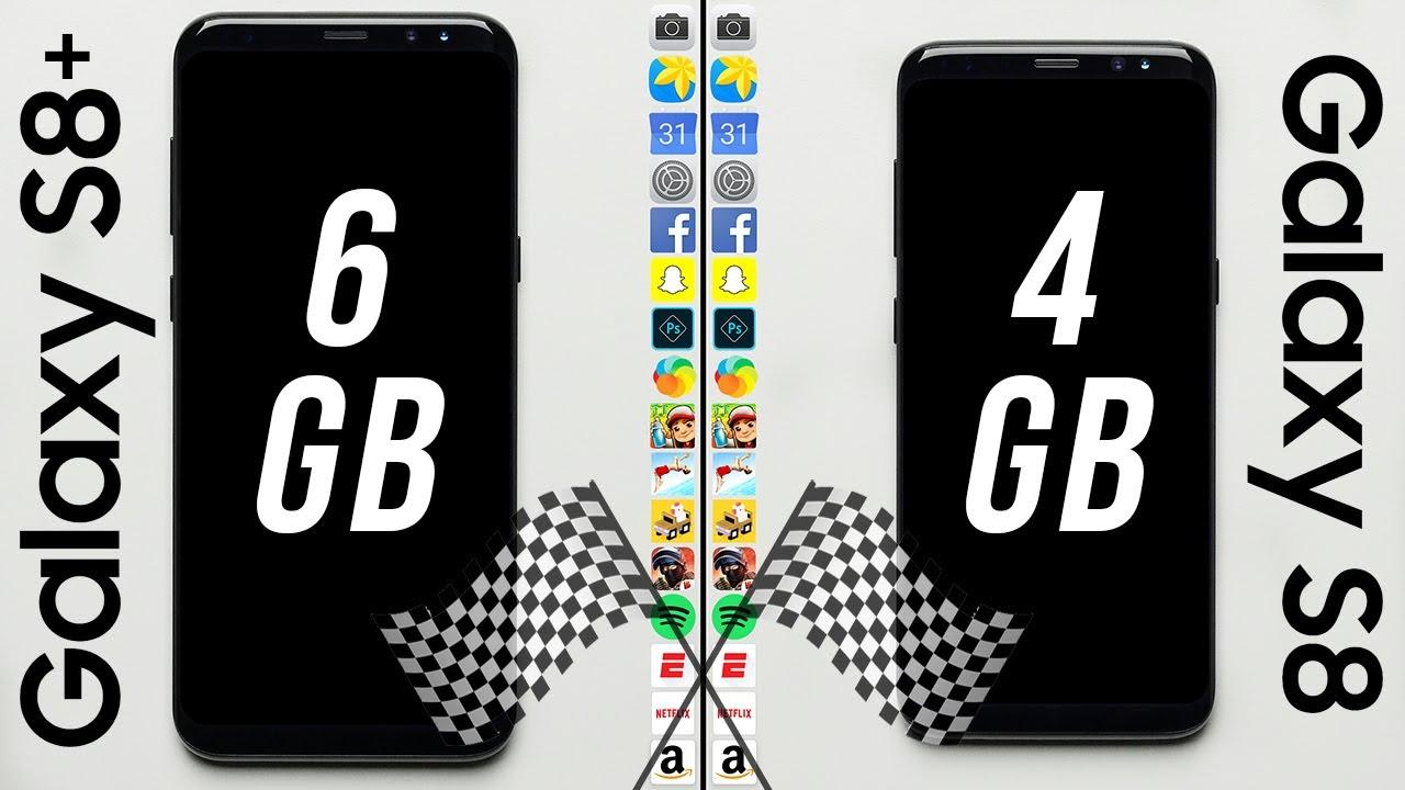 Galaxy S8 6gb Ram Vs Galaxy S8 4gb Ram Speed Test Youtube