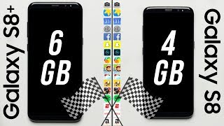 Galaxy S8+ (6GB RAM) vs. Galaxy S8 (4GB RAM) Speed Test