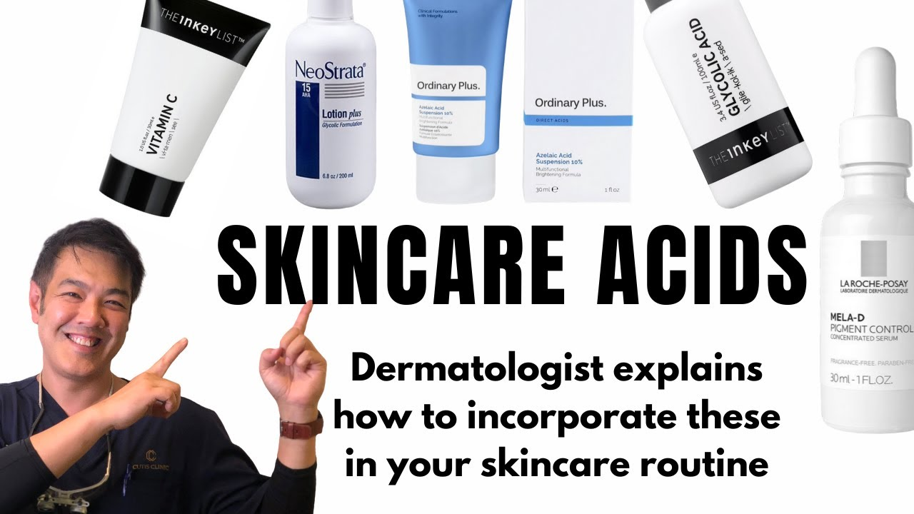 5 SKINCARE ACIDS | How to use, recommended brands, explained by dermatologist