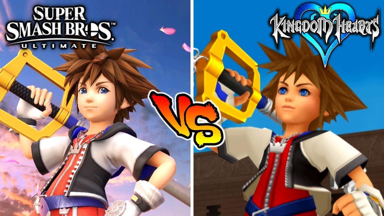 Smash Bros Ultimate VS Kingdom Hearts (Sora's Moveset Comparison)
