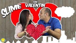SLIME DE SAN VALENTÍN!! Regalo Slime con brillos y perlas satisfactorio de enamorados!!