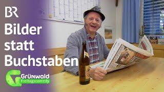Bamberger liest Zeitung