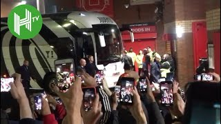 Cristiano Ronaldo given hero's welcome as Juventus arrive at Old Trafford - Man United v Juventus