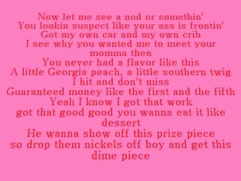 Rasheeda - My Bubble Gum (Lyrics)