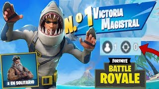 PRIMERA VICTORIA EN Fortnite Battle Royale Temporada 7 SOLITARIO SIN MATAR A NADIE! (0 KILLS) Lolito