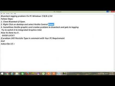 Bluestack lagging problem Fix PC Windows 7/8/8 1/10 - YouTube