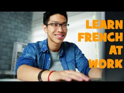 Learn 1800 French phrases while you work
